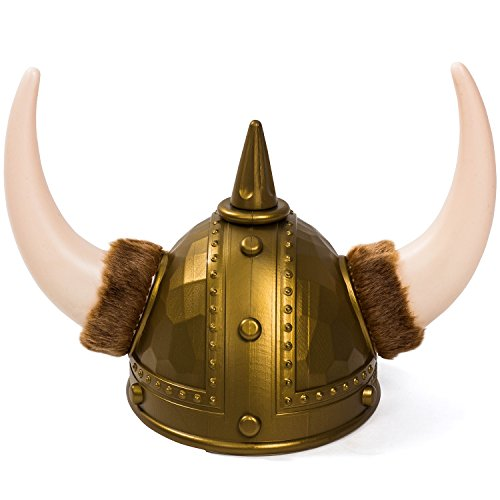 Funny Party Hats Viking Hats - Viking Helmet - Viking Costume Accessories (Viking Helmet With Fur) -