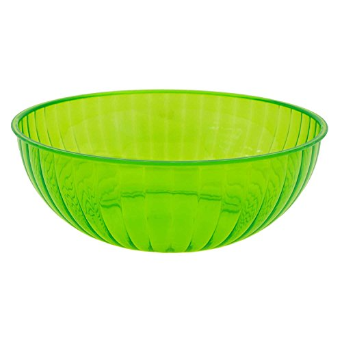 Party Essentials N823413 Hard Plastic 192-Ounce Serving Bowl, Neon -
