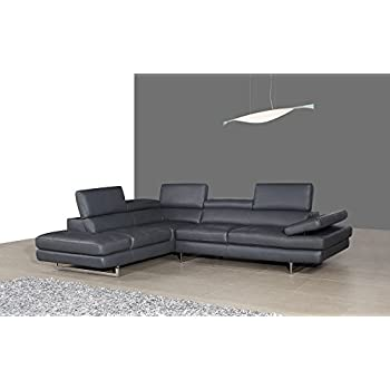 Amazon.com: JM Furniture 625 Italian Leather Left Sectional ...