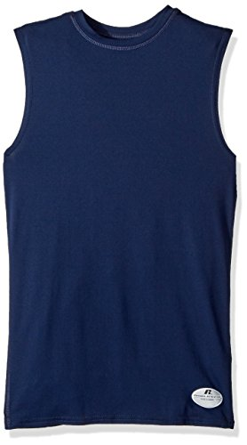 Russell Athletic Men's Muscle Compression Shirt, Navy, Small