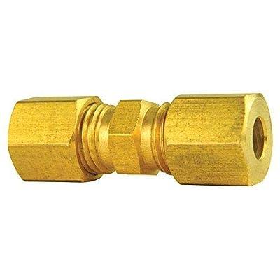 4LIFETIMELINES Brass compression union, 3/16, 10/bag: Automotive