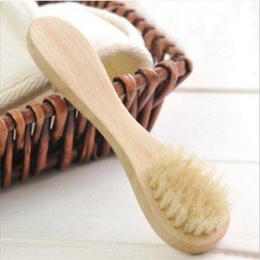 Dry Brushing Body Brush Dry Body Brush Natural Boar Bristles Body Back Brush Scrubber Bath Shower Brush Face Brush Loofah Cellulite Massager Brush Gift Set For Men and Women Body Brush (14inch)