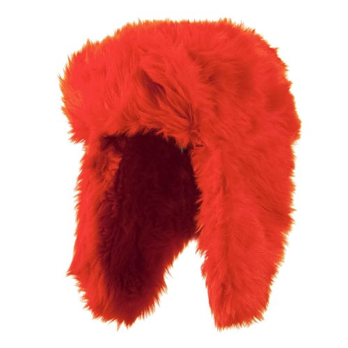 Faux Fur Color Trooper Hat - Orange OSFM