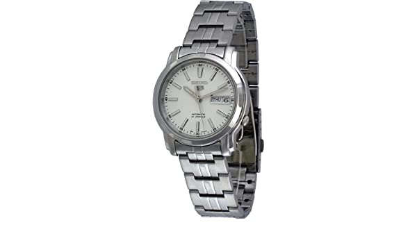 Amazon.com: Seiko Automatic White Dial Stainless Steel Mens Watch SNKL75: Seiko: Watches
