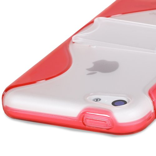 Fosmon HYBO-SK Series Hybrid PC + TPU Skin Case Cover with Stand for Apple iPhone 5C