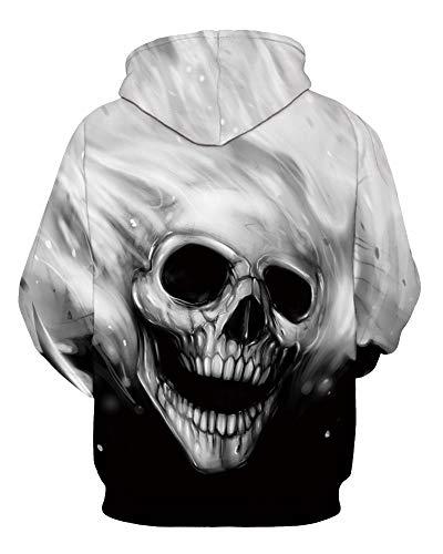 Amoma Sweat Femme shirt White Skull WwaqYvUa