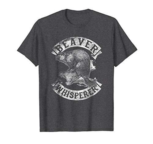 Mens Beaver Whisperer Spirit Animal Funny TShirt Love Beavers Tee Large Dark Heather -