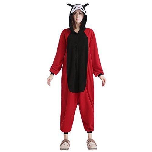 Lttdress Adult Unisex Ladybug Cosplay Sleepwear Onesies Pajamas Costume (Fashion Bug Plus Size)
