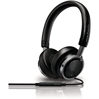 Philips M1/28 Fidelio On-Ear Headphones with Remote and Mic - Black (Discontinued by Manufacturer)