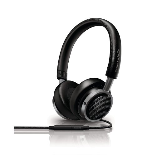 (Philips M1/28 Fidelio On-Ear Headphones with Remote and Mic - Black (Discontinued by Manufacturer))