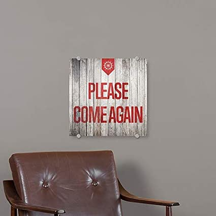Nautical Wood Premium Acrylic Sign CGSignLab Please Come Again 16x16 5-Pack