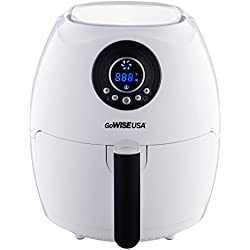 GoWISE USA 2.75-Quart Digital Air Fryer + 50 Recipes for your Air Fryer Book (White)