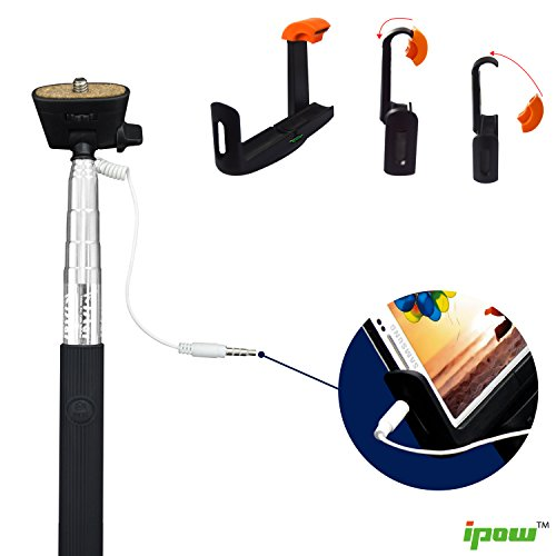 selfie stick ipow self portrait wireless cable control monopod battery free extendable handled. Black Bedroom Furniture Sets. Home Design Ideas