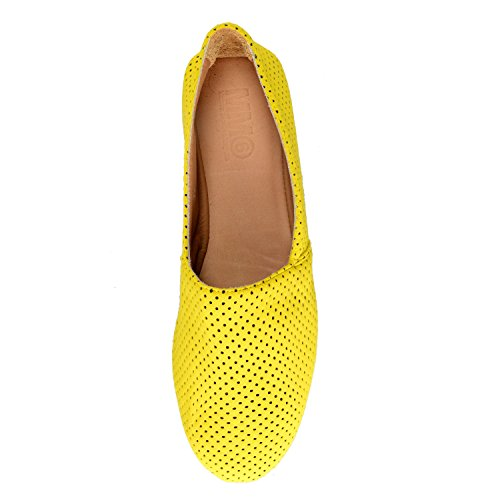 Maison Margiela Mm6 Femmes En Cuir Et Toile Ballerines Chaussures Nous 6 It 37