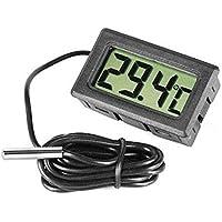 Mylectronico termómetro Pantalla LCD + sonda + Pila–Acuario