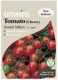 Portal Cool Unwins Sweet Million Híbrido F1 tomate cherry 19 Semillas mejor antes de 09/2020