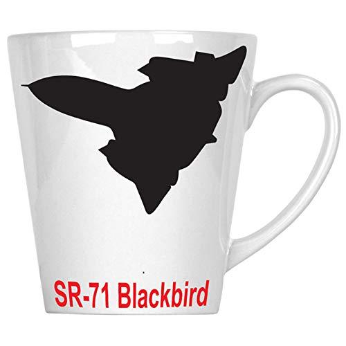 (sr 71 blackbird Fire Jet PLANE Pilot Jet Vintage 12oz Latte Mug c659L)