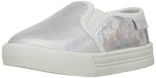 OshKosh B'Gosh Edie Girl's Casual Slip-On Sneaker, Multi Color, 10 M US Toddler (Toddler Shoes Girl Glitter)