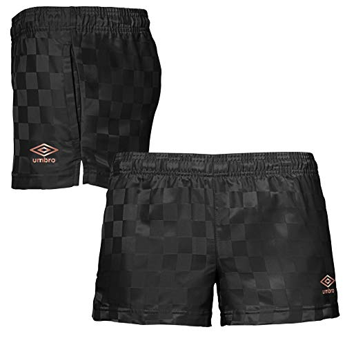 Umbro Women's Classic Checkerboard Shorts (Black/Rose Gold, Small)
