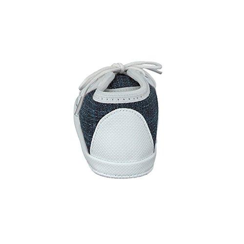 Omnia-Baby Pantau.eu Babyschuhe Lauflernschuhe Kinderschuhe Babyschühchen Krabbelschuhe, Jeansstoff - Zapatos primeros pasos para niño Azul