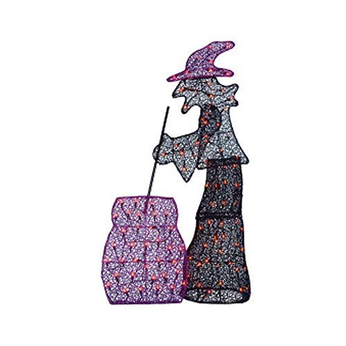 (Midnight Market Halloween Light-up Witch and Cauldron 50 Inches)