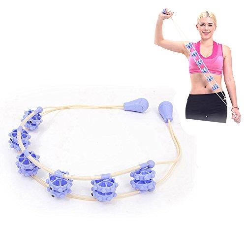 KIKIGOAL Hand Massager Roller Full Body Massage Rope Belt Neck Pull Back Massage for Stress Relief