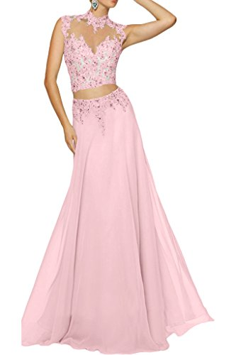 Abendkleid zweiteilig rosa