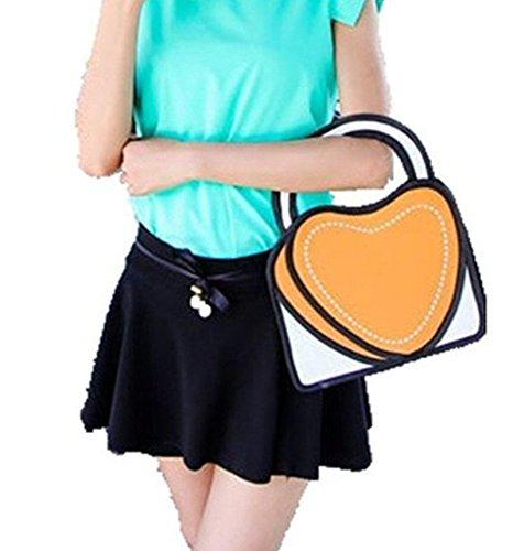 Franchen, Borsetta da polso donna arancione Orange