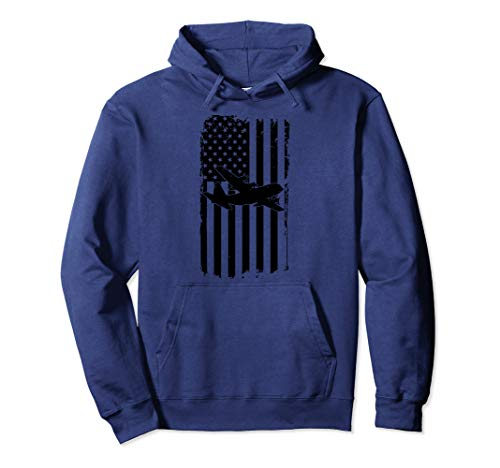 C-130 Airplane Retro Distressed Aircraft Pilot Hoodie Gift