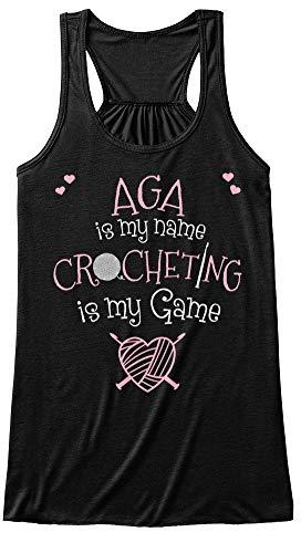 Crocheter Named aga. S (4) - Black Tank Top - Bella+Canvas Women's Flowy Tank