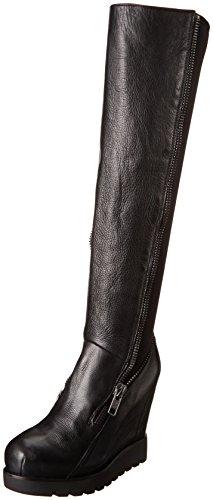 Ash Women's Tosca Boot,Black/Black,37.5 EU/7.5 M US