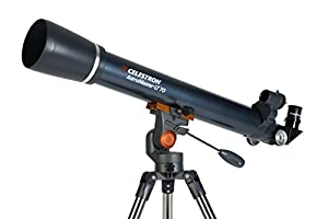 Celestron AstroMaster LT 60AZ Refractor No-Tool Setup Refracting Telescope, Blue (21073)