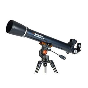 Celestron AstroMaster LT 70AZ Refractor No-Tool Setup Refracting Telescope, Blue (21074)