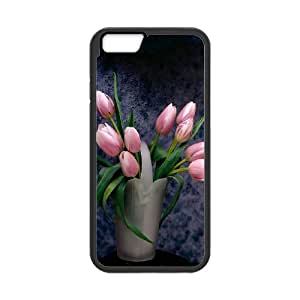 Custom Phone Case with Tulip Image On The Back Fit To iPhone 6,6S
