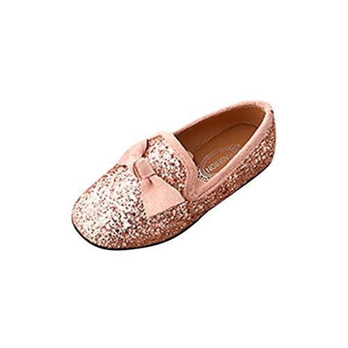 Kirbyates Children Kid Baby Girls Shallow Princess Bowknot Crystal Bling Single Party Glitter Rhinestone Dance Shoes