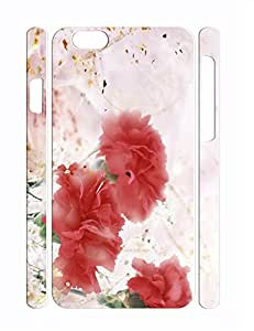 Fashion Individualized Pretty Roses Durable Iphone 6 Plus 5.5 Inch Phone Hard Shell Case