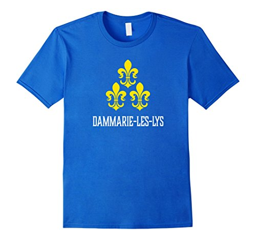 Men's Dammarie-les-Lys, France - French Fleur de Lis T-shirt Large Royal Blue