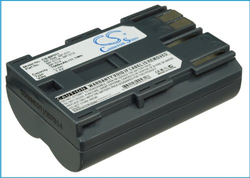 1500 mAh交換バッテリーfor Canon bp-508、bp-511、bp-511 a、bp-512、bp-514   B017RC7H3Q