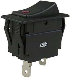 Gardner Bender GSW-49 Rocker Switch Lighted, 10A 277VAC, Single Pull Single Throw, Red