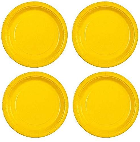 estar en gran demanda Party Dimensions Sunshine - Plato de papel papel papel (22,8 cm, 20 unidades), Color amarillo 2-(Pack) 4-(Pack)  envío rápido en todo el mundo