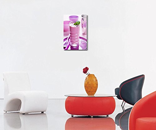 Freshly Blendet Smoothie with Berries Drink Beverage Photograph Wall Decor