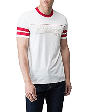 Red Combo Football Tee X-Large