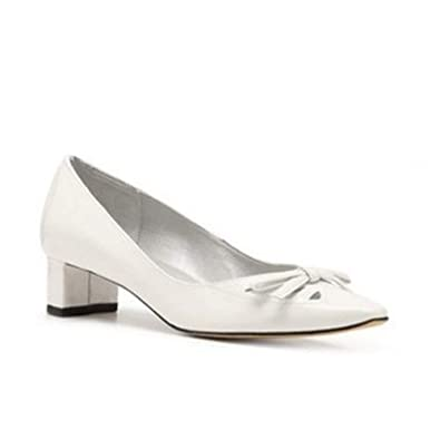 a2ffe0a34cb Image Unavailable. Image not available for. Color  VANELi Helma White Patent  Leather Pump ...