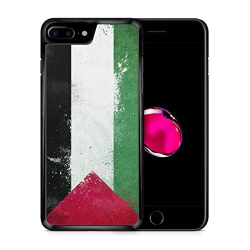 Palästina Grunge iPhone 7 PLUS SCHWARZ Hardcase Hülle Cover Case Schutz Schale Flagge Flag Palestina