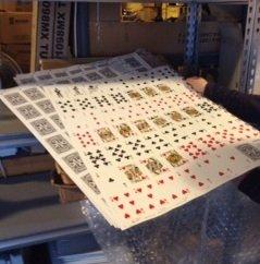 Uncut Sheets of a Houdini Deck