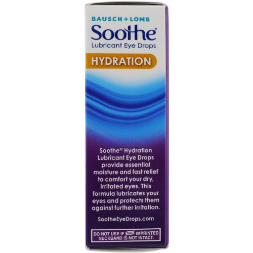 Bausch + Lomb Soothe Eye Drops, Hydration Eye Drop, 0.5 Fluid Ounce