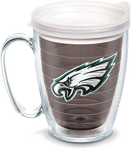 (Tervis 1084907 NFL Philadelphia Eagles Primary Logo Tumbler with Emblem and Frosted Lid 16oz Mug, Quartz)