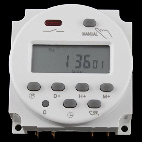 AC 220V-240V Digital LCD Power Programmable Timer Time Switch Relay 16A 03