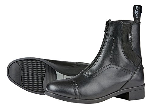 Sächsische syntovia Erwachsene Reiten zip Paddock Stiefel–Schwarz