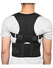 Verstelbare houdingscorrector, geschikt voor mannen en vrouwen, kinderen, slouching corrector, ruggleuf, sleutelbeenorthese, boven- en lumbale rugsteun voor afgeronde schouders